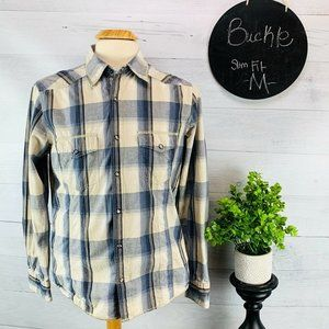 Buckle BKE  Pearl Snap Western Shirt Plaid M